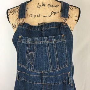 Women's Denim Shorts Overalls Sz L